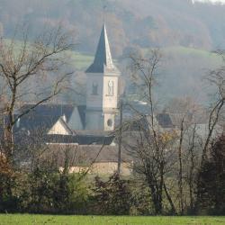 Clocher de Préval vu par l'Ouest